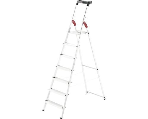 Hailo L60 - escabeau de sécurité en aluminium, 7 niveaux