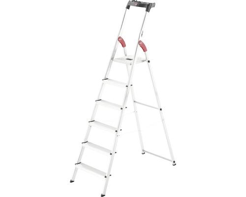 Hailo L60 - escabeau de sécurité en aluminium, 6 niveaux