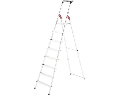 Hailo L60 - escabeau de sécurité en aluminium, 8 niveaux