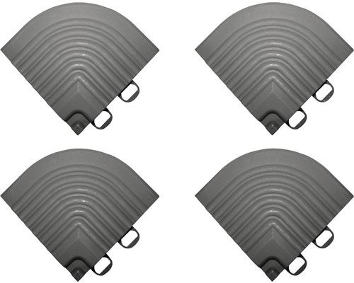 Pièce d''angle dalle à clipser 6.2x6.2 cm gris foncé 4-pièces