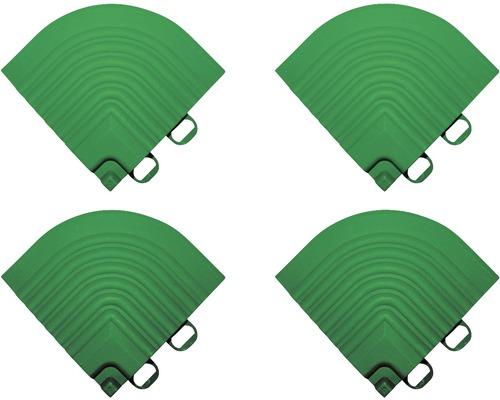 Pièce d''angle dalle à clipser 6.2x6.2 cm vert 4-pièces