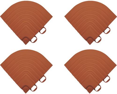 Pièce d''angle dalle à clipser 6.2x6.2 cm terre cuite 4-pièces