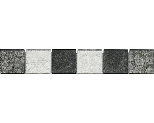 Frise en verre 4,8x29,8cm grey mix