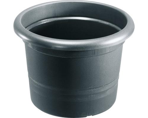 Pot de fleurs Geli Montana plastique, Ø 25 H 20 cm, anthracite