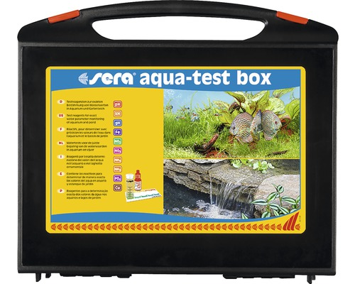 Boîte de test de l''eau sera aqua-test