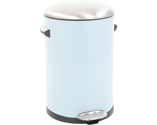 Poubelle à pédale au look rétro 12litres bleu