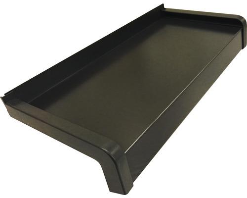 Fensterbank Alu braun 235x16,5 cm inkl. Kunststoff-Seitenabschluss (re+li) und Montageschrauben