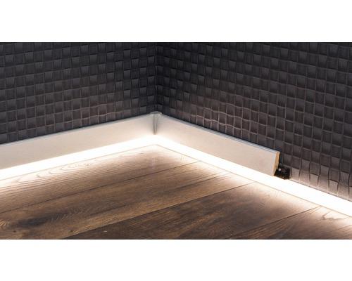 Canal LED pour plinthes à LED opale 22x2500 mm-0