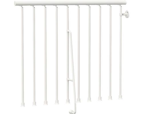 Garde-corps plastique blanc pour Pertura Kalika/Jola droit L:125 cm