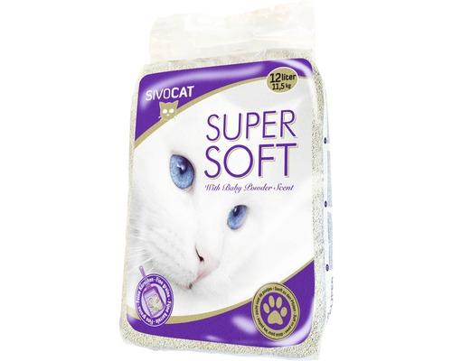 Litière pour chat, Sivocat Super Soft, 12 litres