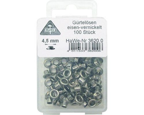 Ösen vernickelt 4,5 mm 100er Pack