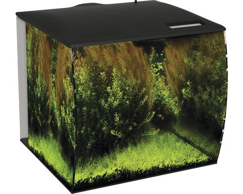 Aquarium Fluval Flex 57 l avec éclairage LED, filtre, pompe sans meuble bas, noir