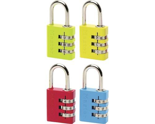 Zahlenschloss Master Lock 30 mm, verschiedene Farben
