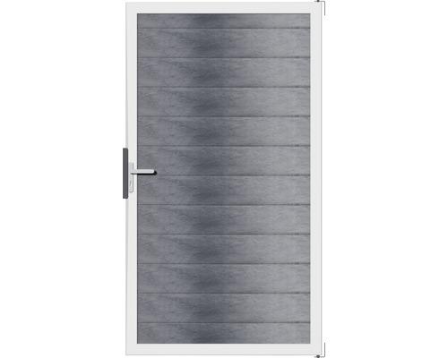 Portail à un vantail Flex 100 x 180cm, gris pierre
