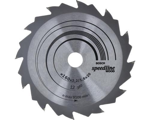 Lame de scie circulaire Bosch Speedline Wood 160x20 mm Z 12