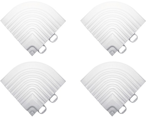 Pièce d''angle dalle à clipser 6.2x6.2 cm blanc 4-pièces