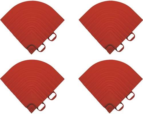 Pièce d''angle dalle à clipser 6.2x6.2 cm rouge 4-pièces