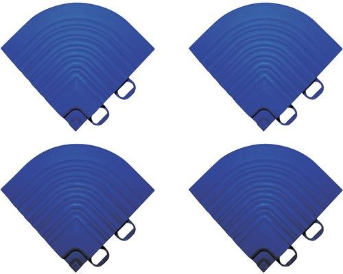 Kit d''éléments d''angle dalle à clipser, 6.2x6.2 cm, bleu, 4 unités