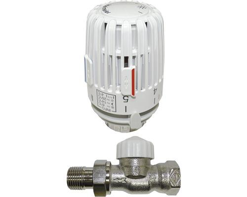 "Kit de robinet thermostatique Heimeier 1/2"" V-Exact II passage préréglable"