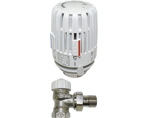 "Kit de robinet thermostatique Heimeier 1/2"" V-Exact II forme angulaire préréglable"