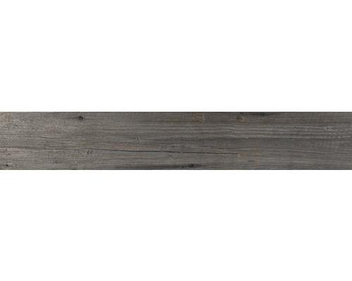 Carrelage pour sol en grès cérame fin Vancouver gris 15x90cm-0