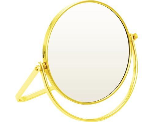 Kosmetikspiegel 5-fach Goldfarben 12,5 cm