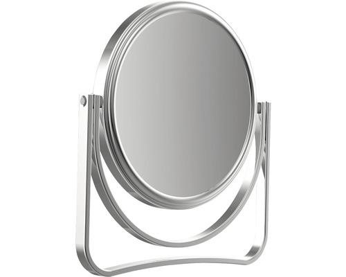 Miroir de maquillage grossissant 5 fois chromé 12,5cm
