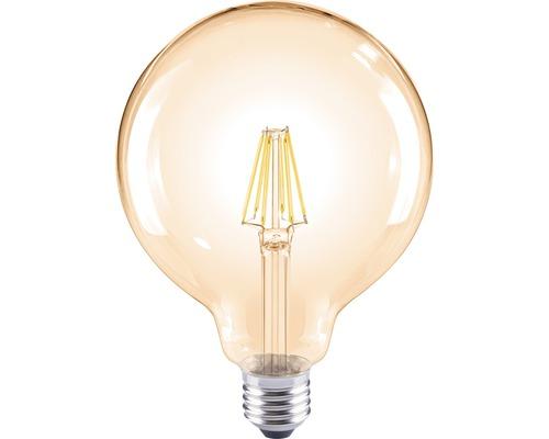 Lampe globe LED G120 ambre E27/8W(60W) 800lm 2000K blanc chaud