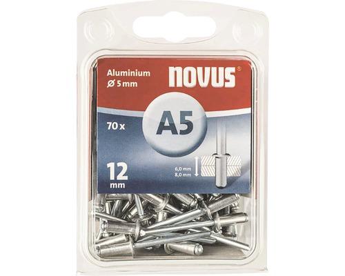 Blindnieten Novus Aluminium Ø 5x12 mm 70er Pack