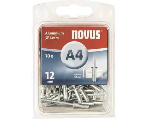 Novus Blindnieten Aluminium Ø 4x12 mm 70er Pack