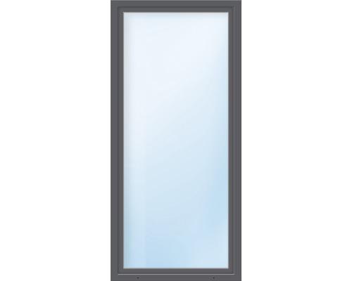 Porte de balcon en PVC ARON Basic blanc/anthracite 1000x2100 mm tirant gauche