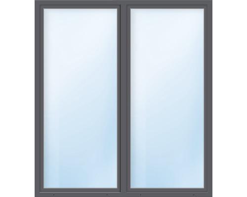 Porte de balcon 2 battants plastique ARON Basic blanc/anthracite 1500x1900 mm