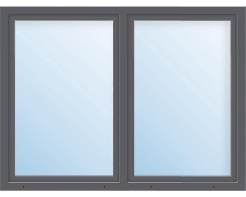 Fenêtre en plastique 2 battants ARON Basic blanc/anthracite 1200x500 mm