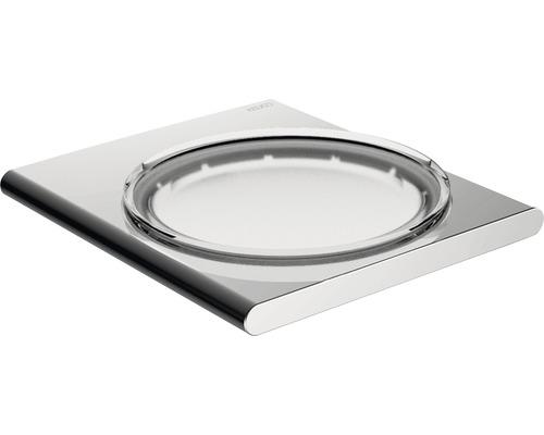 Porte-savon avec support KEUCO Edition 400 verre de cristal véritable/chrome 11755