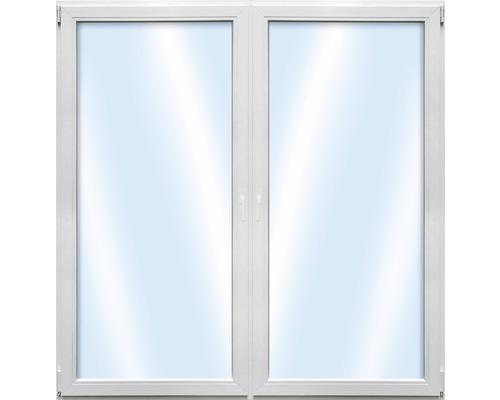 Porte de balcon 2 battants en plastique ARON Basic blanc 1400x1900mm