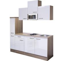 Kitchenette Valero 180 cm blanc brillant/chêne sonoma 00009876-thumb-1