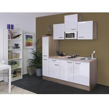 Kitchenette Valero 180 cm blanc brillant/chêne sonoma 00009876-thumb-0
