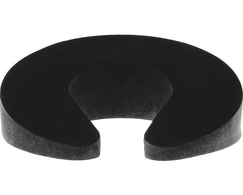 Butoir de porte et de fenêtre Deltafix noir Ø 95 x H 30 mm