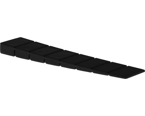 Cale-porte Deltafix marron H 7 x l 20 x L 100mm, 4 unités