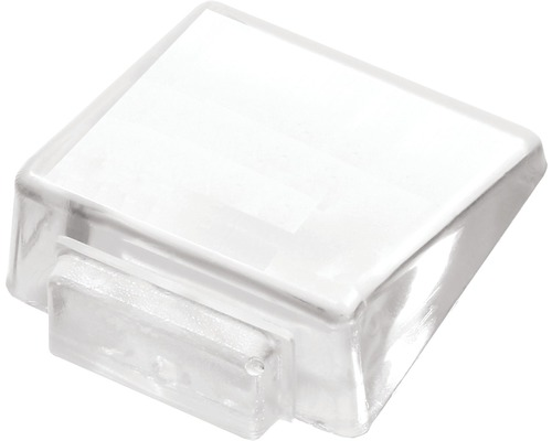 Butoir de porte Deltafix transparent Ø 45mm H 17 mm