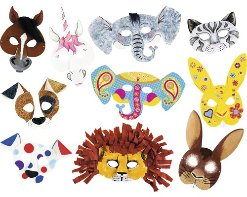Kit créatif masques d''enfants, 6 motifs