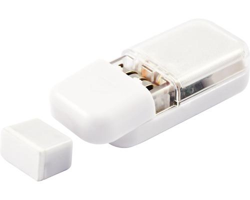 Lampe à LED pour tiroirs à piles avec capteur crépusculaire et détecteur de mouvements blanche L 63 mm