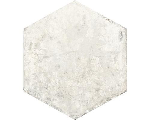 Carrelage pour sol en grès cérame fin Siena Esagona bianco 34x40cm hexagone