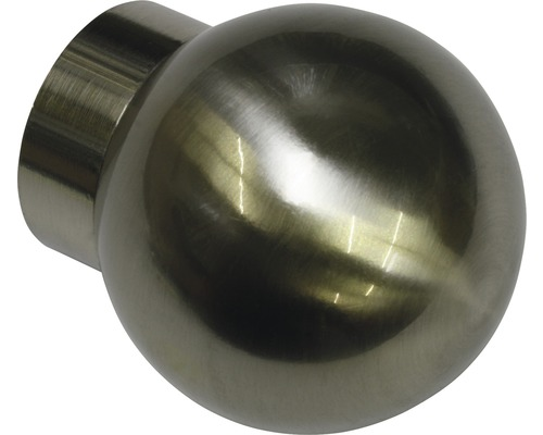 Embout Windsor balle aspect acier inoxydable Ø 25mm lot de 2