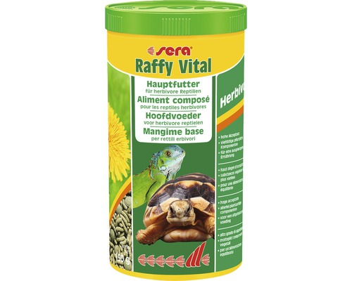 Aliment principal pour reptiles herbivores sera Raffy Vital 1l