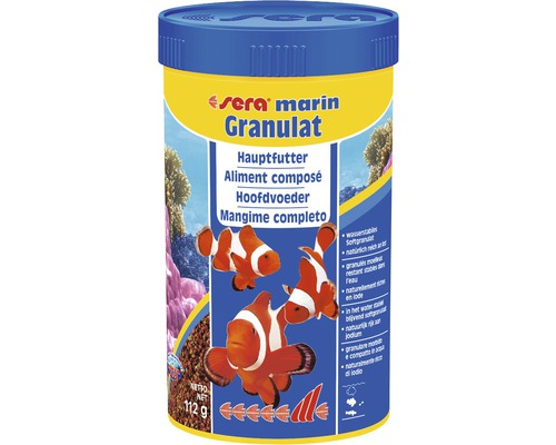 Aliment composé granulés pour poissons d''eau de mer sera Marin Granulat 250ml