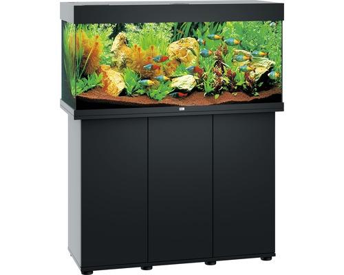 Kit complet d''aquarium Juwel Rio 180 LED SBX avec sous-meuble noir