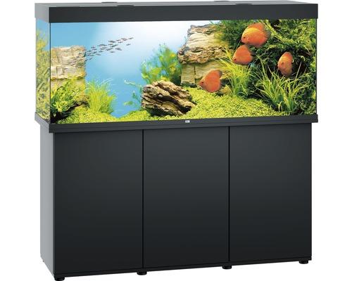 Kit complet d''aquarium Juwel Rio 450 LED SBX avec sous-meuble noir