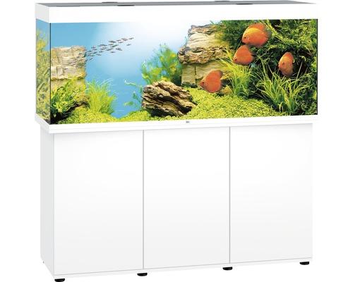 Kit complet d''aquarium Juwel Rio 450 LED SBX avec sous-meuble blanc