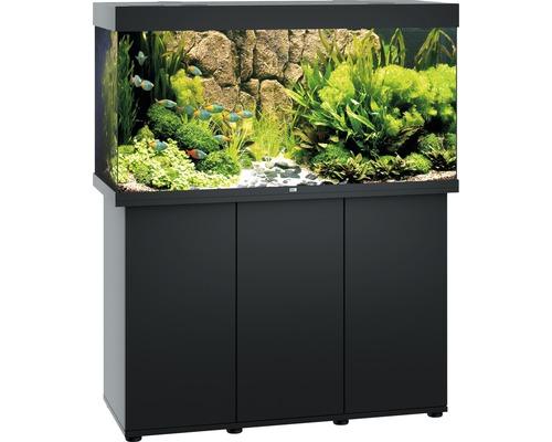Kit complet d''aquarium Juwel Rio 350 LED SBX avec sous-meuble noir
